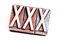 XXX Lizenzfreies Stockfoto