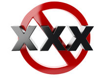 Xxx adults only content sign 3d Stock Image