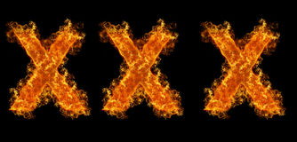 XXX flames Royalty Free Stock Photo