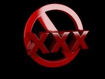 XXX het teken van de volwassenen slechts inhoud Stock Afbeelding