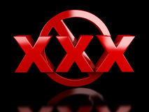 XXX het teken van de volwassenen slechts inhoud Royalty-vrije Stock Afbeeldingen