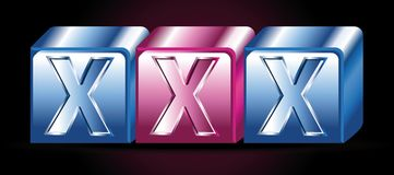 Xxx icon Royalty Free Stock Image