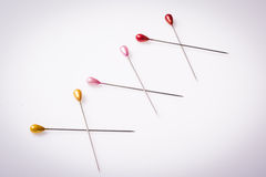 XXX inscription written with sewing pins Stock Images