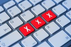 Xxx klawiaturowi klucze Zdjęcia Stock
