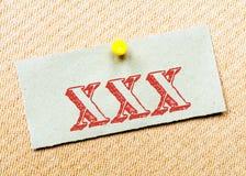 XXX Message Stock Photo