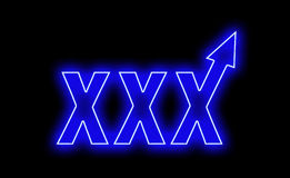 Xxx the neon sells quickly rises up Stock Photo