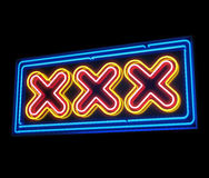 XXX neon sign Stock Photography