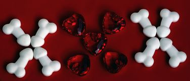 XXX pene y corazones Imagenes de archivo
