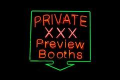 XXX privé signe au néon Photo libre de droits