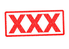 XXX Rubber Stamp Royalty Free Stock Image