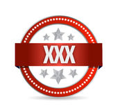 Xxx seal illustration design Royalty Free Stock Photos