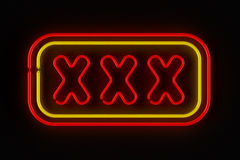 XXX Sign Stock Photo