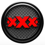 Xxx  sign on white background Stock Images