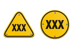 Xxx signs Royalty Free Stock Image