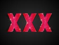 XXX tekst Zdjęcie Stock