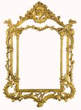 XXXL Antique gold frame with clipping path Stock Image