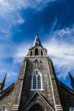 XXXL Church Steeple Panorama and Sky Stock Images
