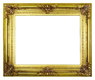 XXXL Gold antique frame Stock Photography