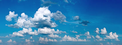 XXXL panorama of blue sky with clouds Royalty Free Stock Photo
