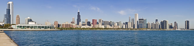 XXXL panorama of Chicago. XXXL panorama of downtown Chicago royalty free stock images