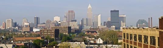 XXXL Panorama of Cleveland Royalty Free Stock Photos