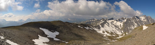 XXXL panorama in high mountain Royalty Free Stock Images