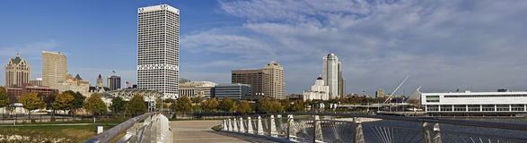 XXXL Panoramic Morning in Milwaukee Stock Image