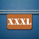 XXXL size clothing label -  Royalty Free Stock Photos