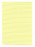 XXXL size yellow lined paper Royalty Free Stock Image
