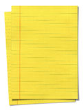XXXL size yellow lined paper Royalty Free Stock Images