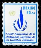 XXXV aniversário da declaração universal do direito humano, SE imagens de stock