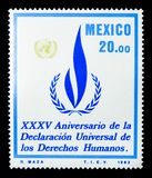 XXXV Verjaardag van de Universele Verklaring van Rechten van de mens, Se Stock Afbeeldingen