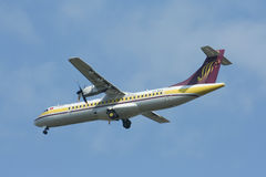 XY-AEY ATR72-200 d'Airmandalay Images libres de droits
