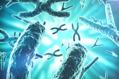XY-chromosomes as a concept for human biology medical symbol gene therapy or microbiology genetics research. 3d Royalty Free Stock Image
