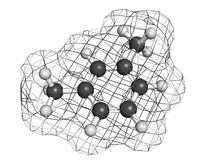 Xylene (meta-xylene, xylol) aromatic hydrocarbon molecule Stock Photos