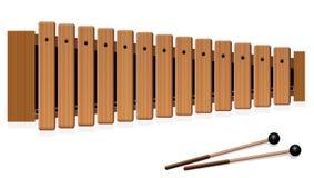 Xylofoon Houten Muzikaal Instrument stock illustratie