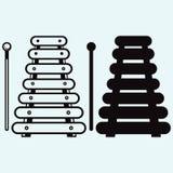 Xylofoon, muzikaal instrument stock illustratie