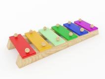 Xylofoon muzikaal stuk speelgoed Stock Afbeeldingen