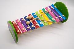 Xylofoonstuk speelgoed met 12 kleurrijke wijsjes Stock Afbeeldingen
