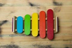 Xylophone σε ένα ξύλινο υπόβαθρο Στοκ Εικόνα