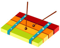 Xylophone. Illustration of a xylophone on white background Stock Photography