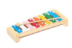 Xylophone. Colorful xylophone isolated on white background Royalty Free Stock Image