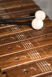 Xylophone /2. A nice wooden xylophone with sticks. Canon 5D, 24-105 Stock Photography
