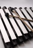 Xylophone. And mallets musical instrument Stock Images