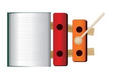 βιβλίο xylophone Στοκ φωτογραφία με δικαίωμα ελεύθερης χρήσης