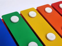 Xylophone. A toy version of a xylophone, for babies Stock Photo