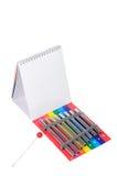 Xylophone avec le bloc-notes. Photographie stock libre de droits