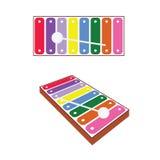 Xylophone baby toy art illustration Royalty Free Stock Photo