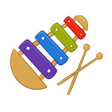 Xylophone cartoon Royalty Free Stock Photography