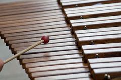 Xylophone, clés Photo stock